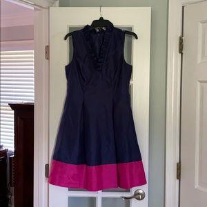 Navy and fuchsia Dress